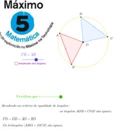 Relação entre lados e ângulos de triângulos iguais