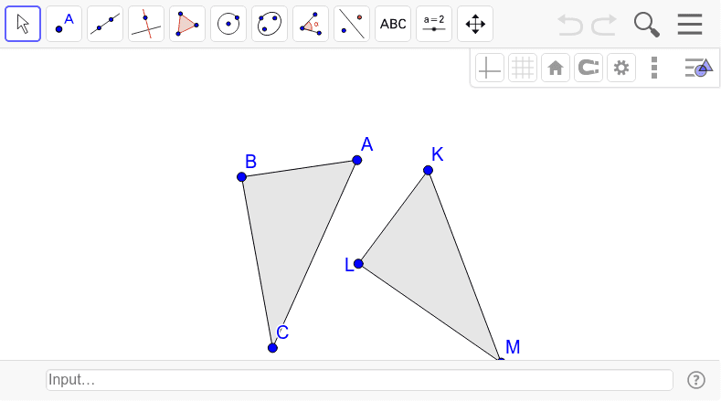 Are the triangles congruent?  How do you know? Press Enter to start activity