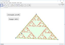 Triângulo de Sierpinski por pontos