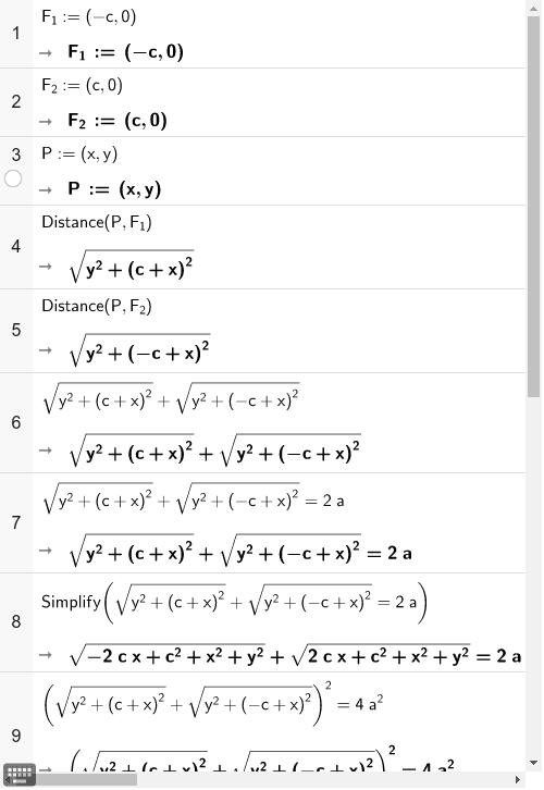 Speciális ellipszis egyenlete Press Enter to start activity