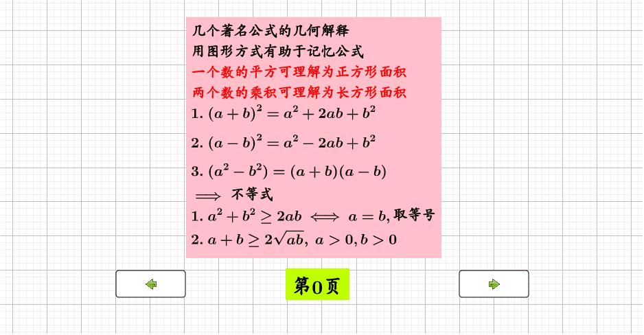 平方就是正方形面积,乘积就是长方形面积 按 Enter 开始活动