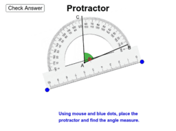 Using the protractor