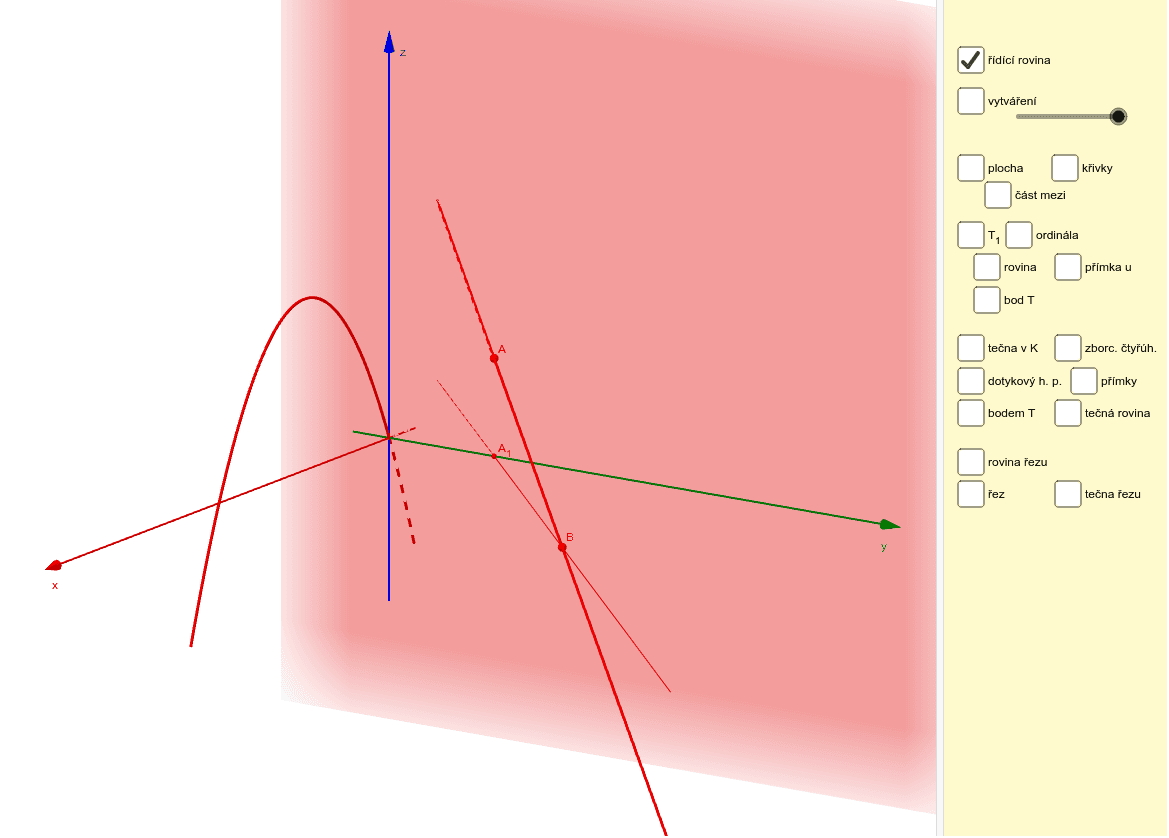 Parabolický konoid Zahajte aktivitu stisknutím klávesy Enter
