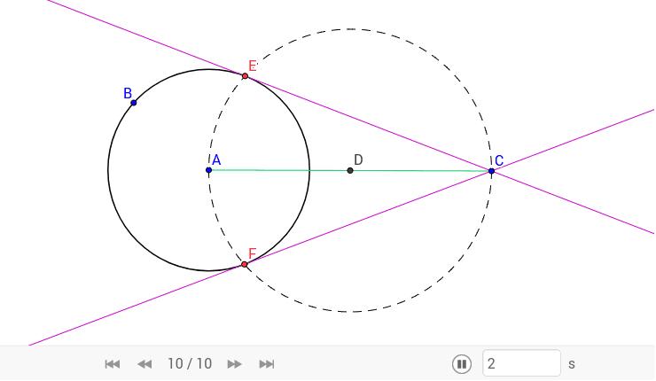Konstrukcija tangenata na kružnicu