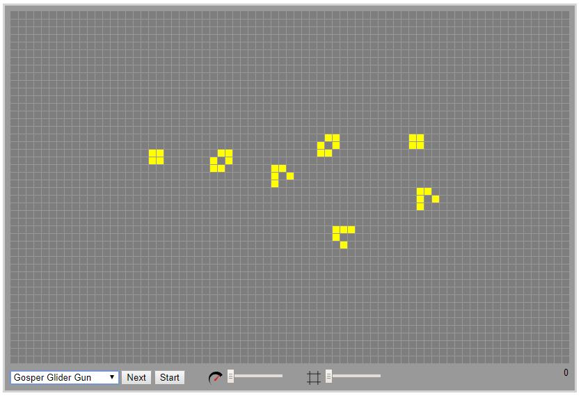 screenshot of the simulation board: