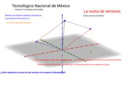 Suma de vectores 3D