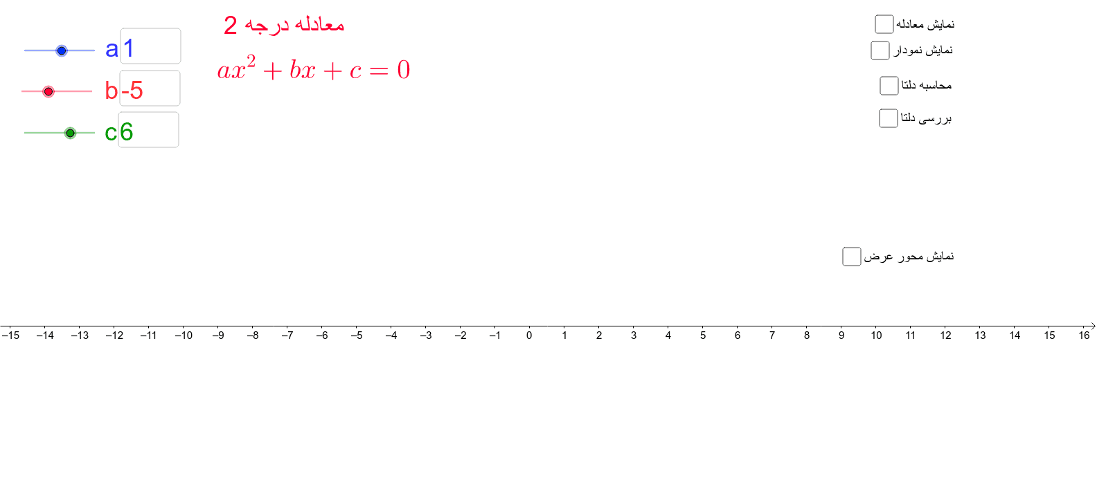 با درگ کردن یا وارد کردن اعداد در کادرها و زدن اینتر می توان ضرائب را تغییر داد Press Enter to start activity