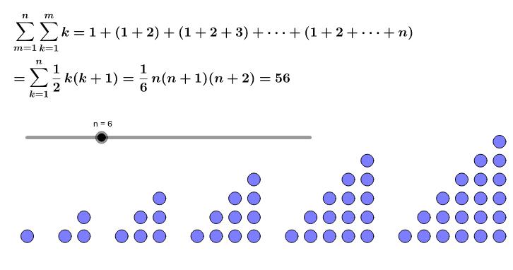 ∑k(k-1)=(n-1)n(n+1)/3を使う。 ワークシートを始めるにはEnter キーを押してください。