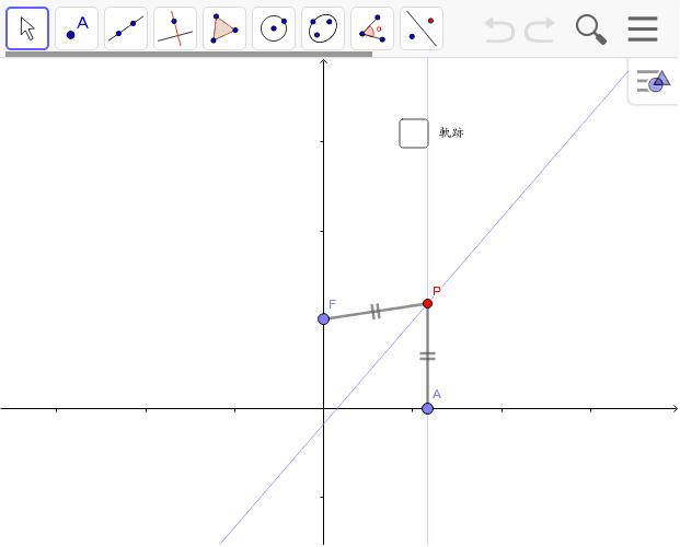 放物線の定義 ワークシートを始めるにはEnter キーを押してください。