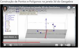 Construção de Pontos e Polígonos na janela 3d do Geogebra