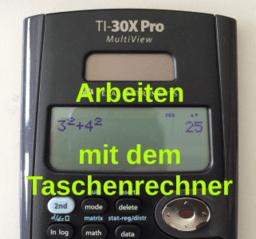 Arbeiten mit dem Taschenrechner