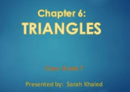 Chapter 6 - Triangles - Grade 7