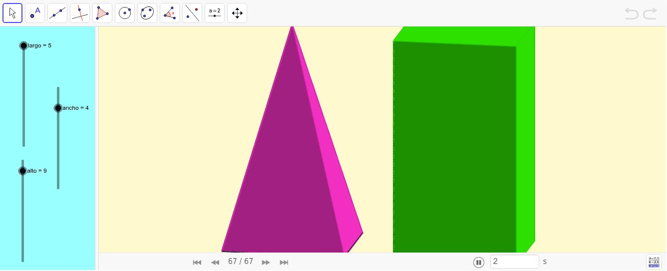 Volumen pirámide Presiona Intro para comenzar la actividad