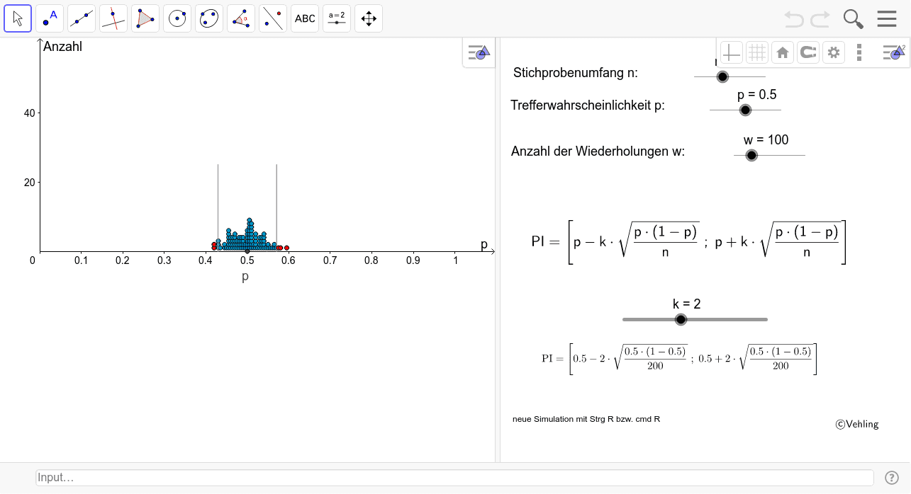 Stichprobenverteilung simulieren