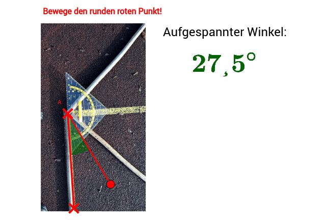 Vermessung Winkel Punkt A Drücke die Eingabetaste um die Aktivität zu starten