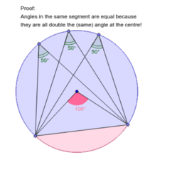 Angles in the same Segment (Proof)