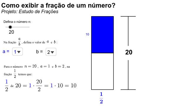 Projeto: Estudo de Frações Press Enter to start activity