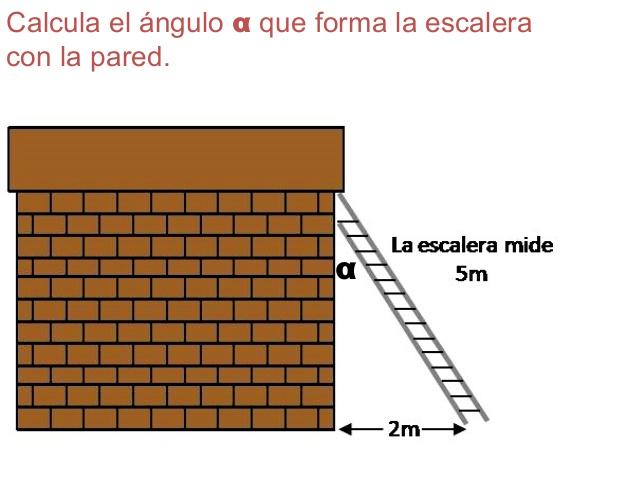 Resuelve el problema mediante funciones trigonomètricas.