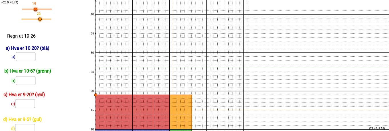 Multiplikasjon som areal