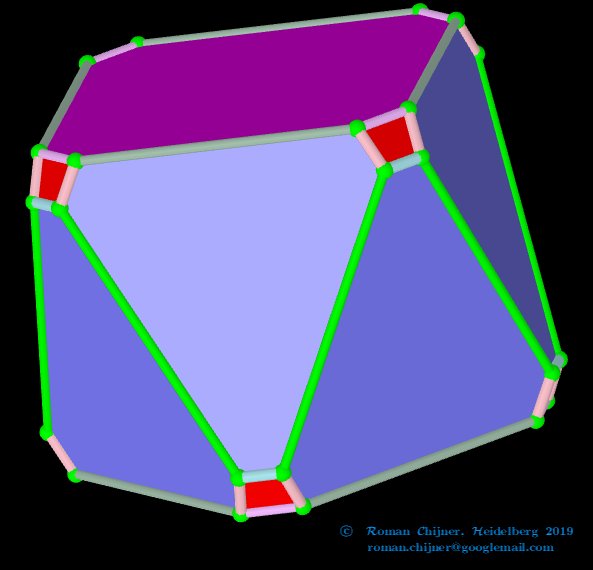 Truncated square antiprism