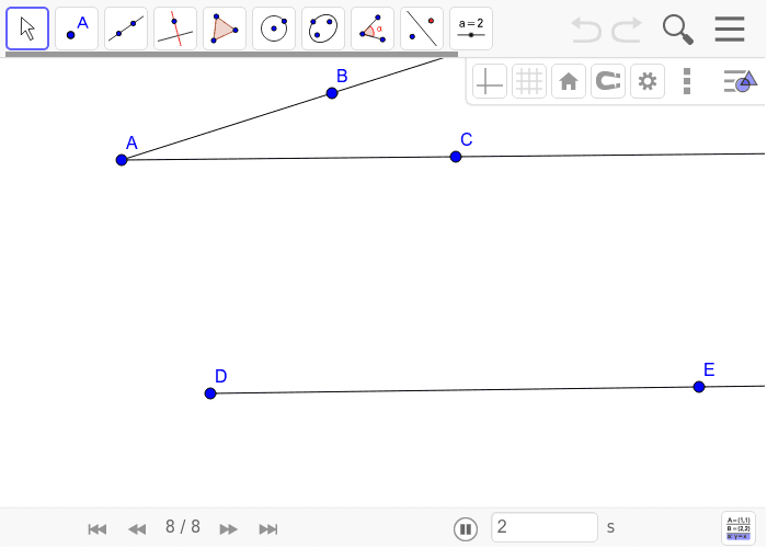 Create an angle congruent to A at point D.
