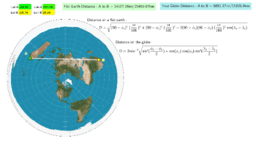 Distances on a Flat Earth