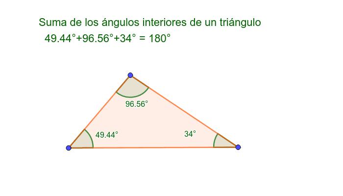 Mueve los vértices de este triángulo y observa qué ocurre Presiona Intro para comenzar la actividad