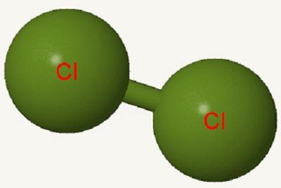 Imagen de una molécula de cloro.