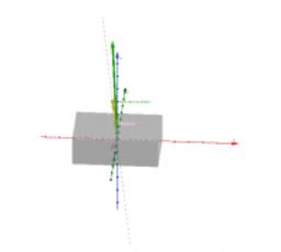Vrtenje kvadra okoli stalne osi