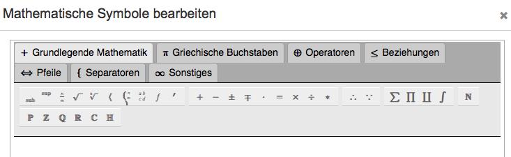 """Klicken Sie auf """"fx"""" um den Bereich """"Mathematische Symbole"""" zu erreichen."""