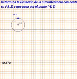 Circunferencia dado el centro y uno de sus puntos.