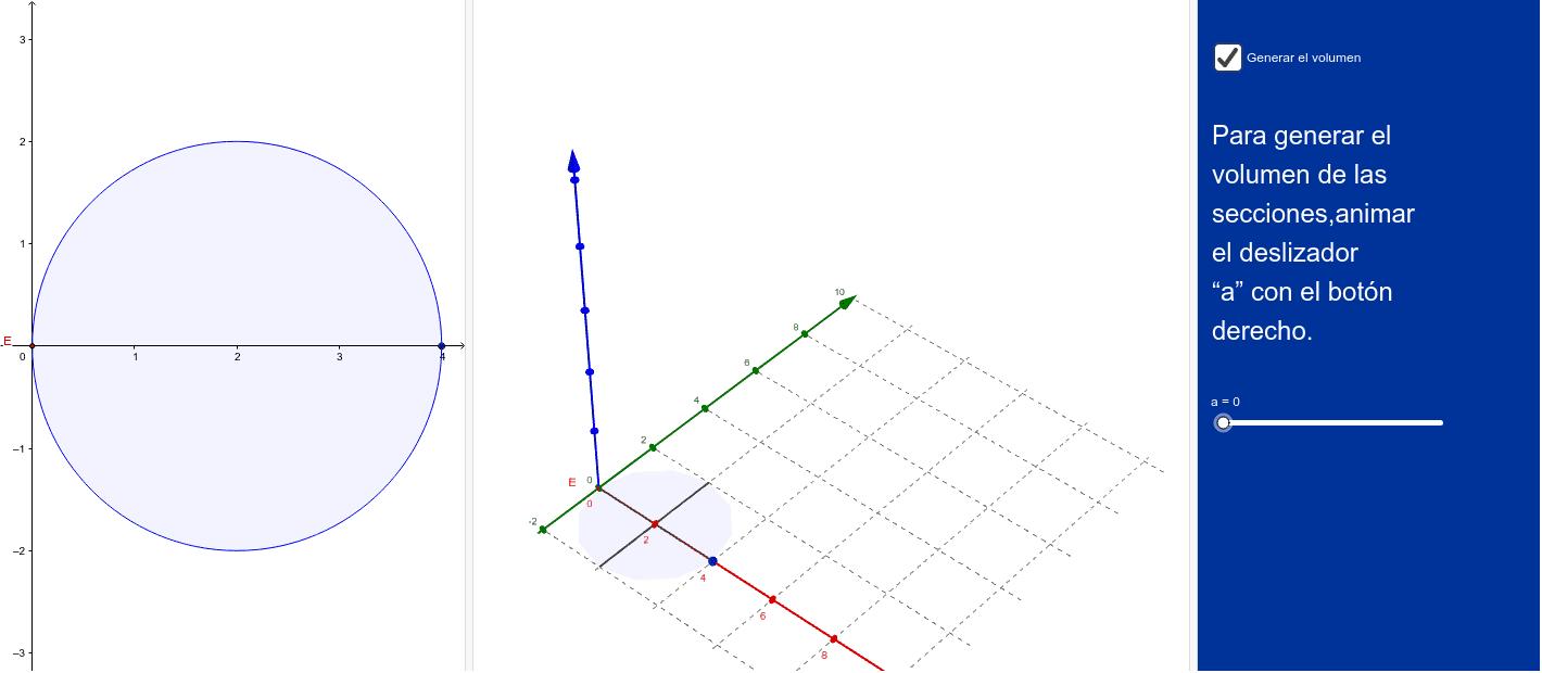 Volumen del sólido generado por las secciones perpendiculares a OX, cuyas secciones son triángulos de altura x^2.
