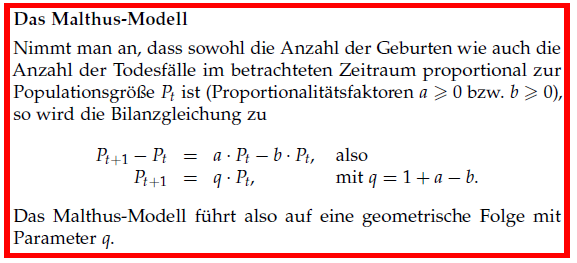 Hilfe - Zusammenfassung Malthus-Modell
