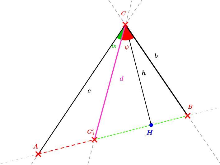 Barycentre de deux points  (utilisation d'angles)