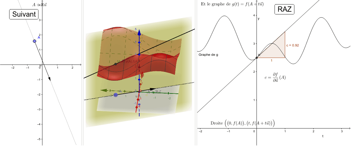 Comment visualiser une dérivée directionnelle d'une fonction grâce à son graphe