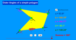 Outer Angles of a simple polygon