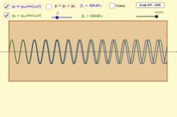 Kopie materiálu Rázy = skládání kmitů  blízké frekvence