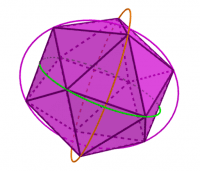 Icosahedron to Borromean Rings