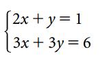 questo sistema ha la soluzione grafica rappresentata nel sistema cartesiano riportato.