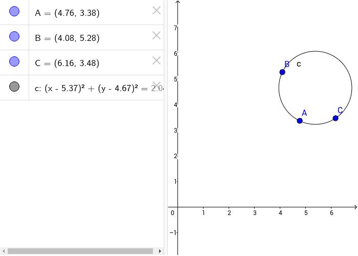Halla el centro, el radio y la ecuación de la circunferencia dada. Presiona Intro para comenzar la actividad