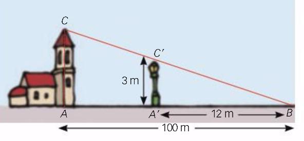Calcula l'alçada de l'edifici.