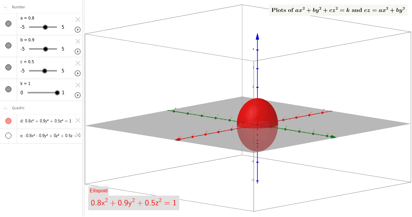 Toggle the two types of surfaces by clicking the red/purple circles in the left pane. Note that this sometimes glitches when transitioning between surface types. Press Enter to start activity