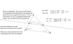 Thales' Intercept Theorem