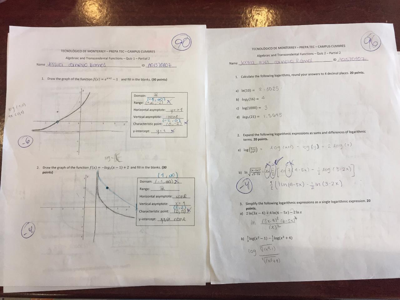 Quiz 1 & 2, 2 Partial