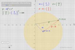 Kreis in vektorieller Darstellung