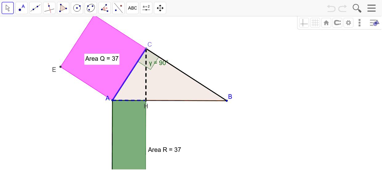 I° teorema di Euclide bis Premi Invio per avviare l'attività