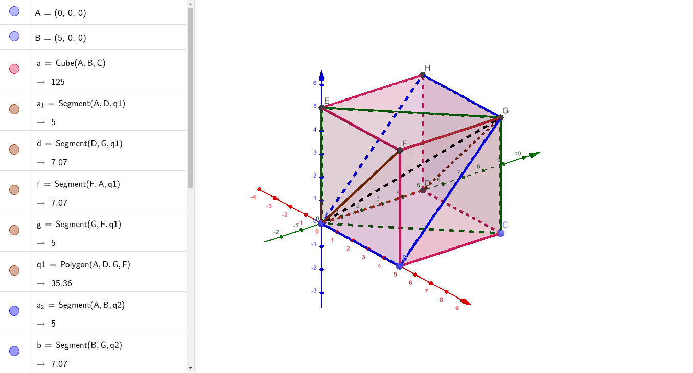 A cube can be partitioned into six congruent triangular pyramids Press Enter to start activity