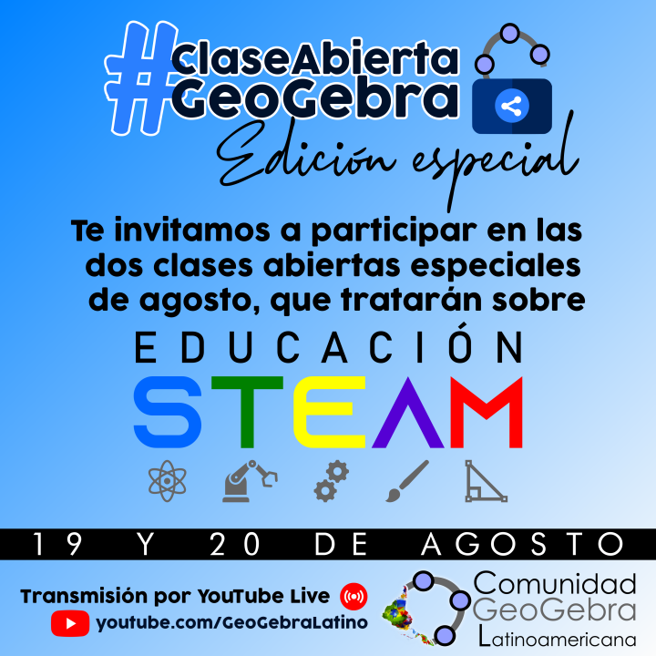 ¡Evento en vivo sobre Educación STEAM y GeoGebra!