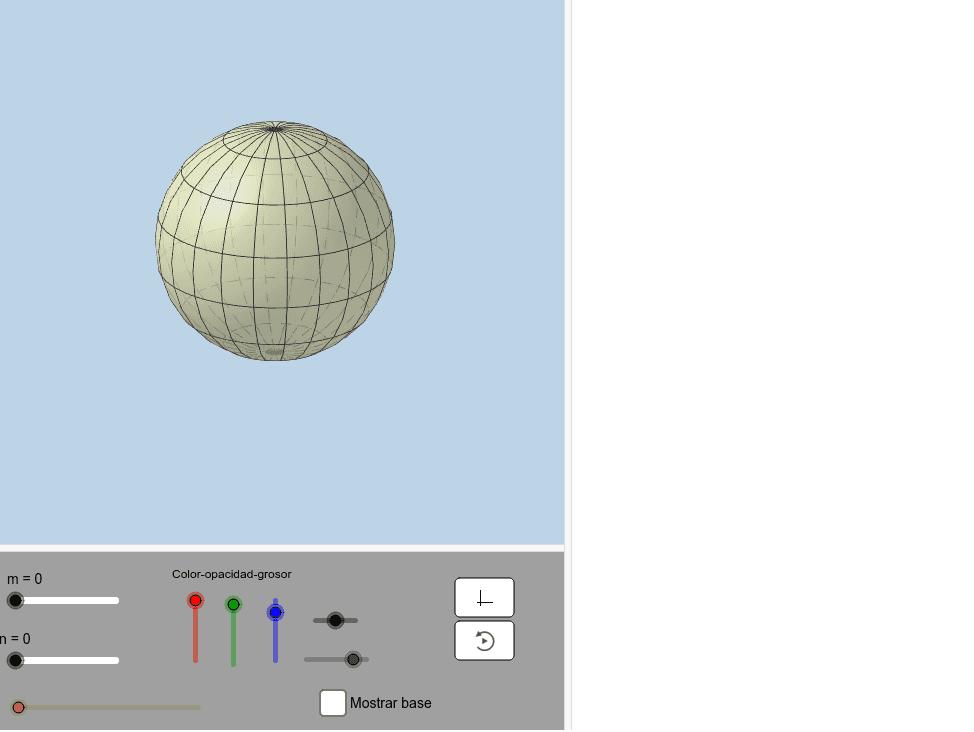Amb la intersecció d'un pla perpendicular al pla base.