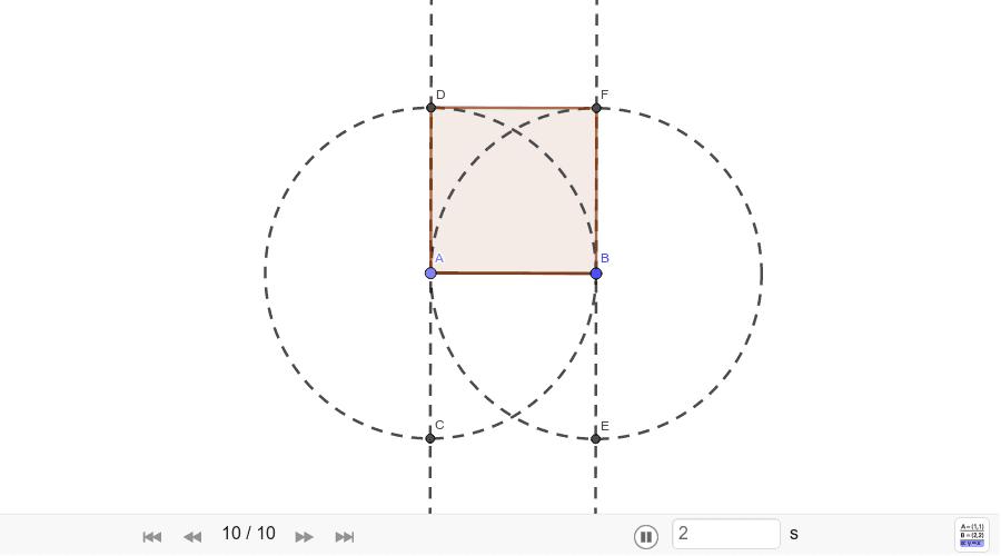 Construcción básica de un cuadrado Presiona Intro para comenzar la actividad